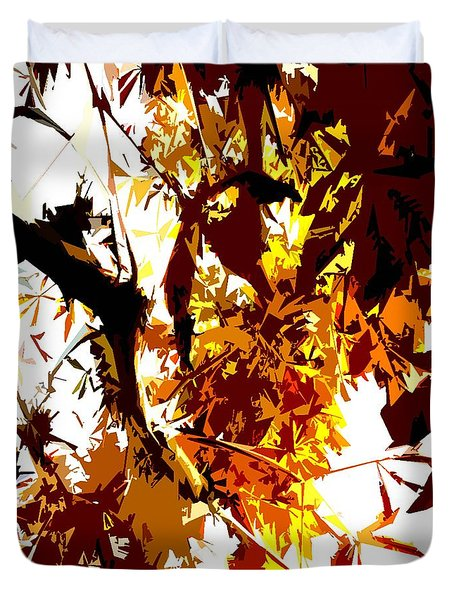 Gazing Into The Autumn Trees Duvet Cover by Patrick J Murphy