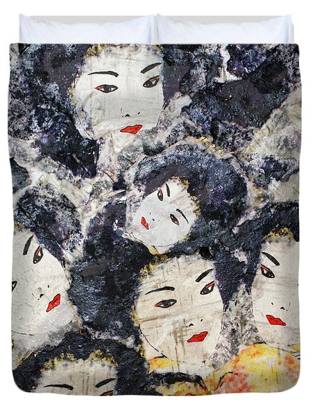 Geisha Duvet Cover by Shelley Jones