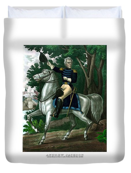 General Andrew Jackson On Horseback Duvet Cover by War Is Hell Store