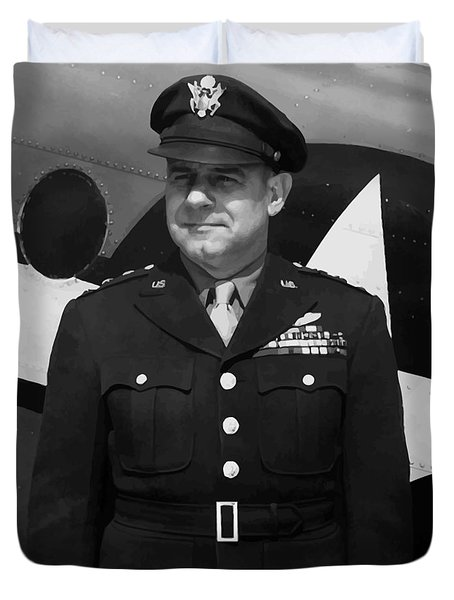 General Jimmy Doolittle Duvet Cover by War Is Hell Store