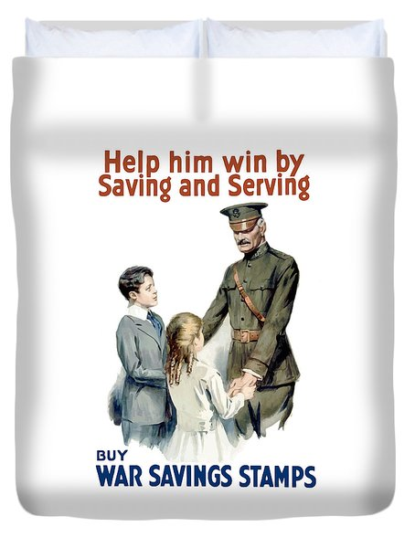 General Pershing Buy War Saving Stamps Duvet Cover by War Is Hell Store