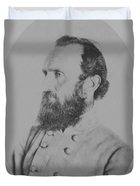 General Thomas Stonewall Jackson Duvet Cover by War Is Hell Store