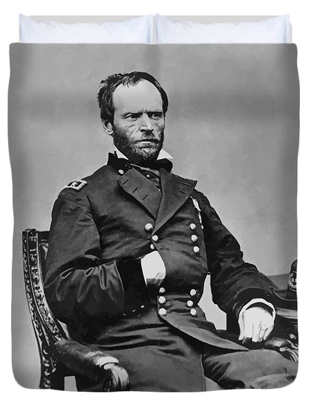 General William Sherman Duvet Cover by War Is Hell Store