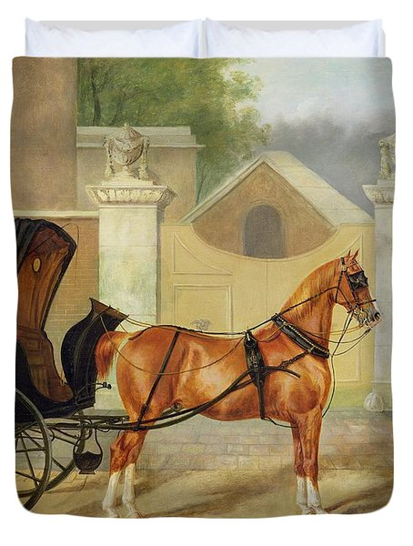 Gentlemen's Carriages - A Cabriolet Duvet Cover by Charles Hancock