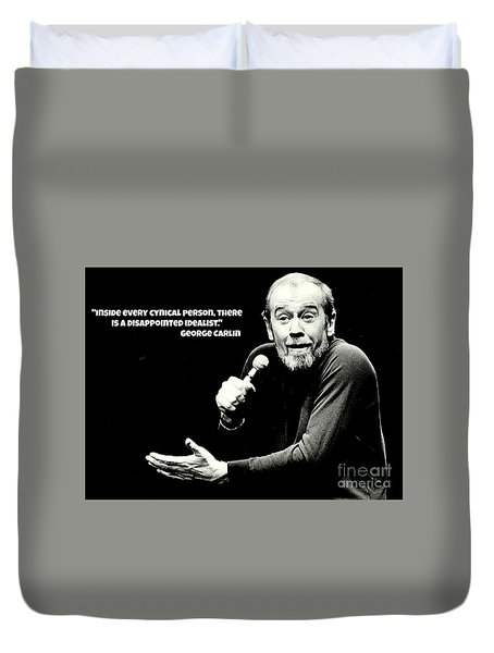 George Carlin Art  Duvet Cover by Pd