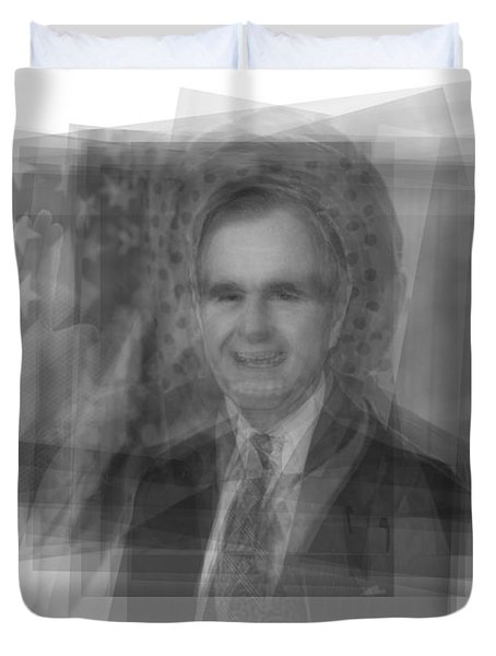 George H. W. Bush Duvet Cover by Steve Socha