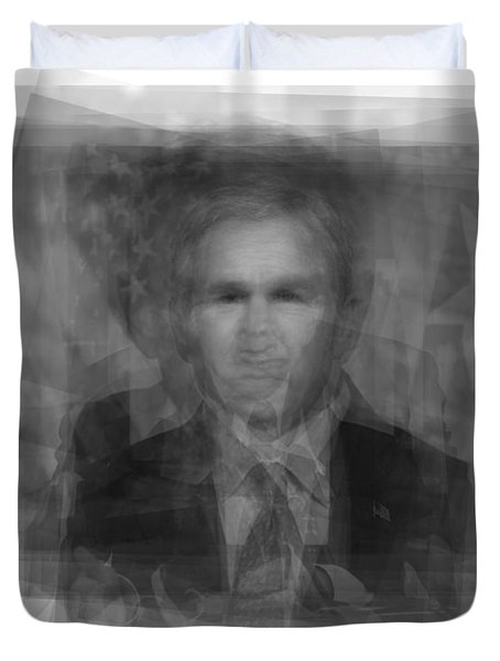 George W. Bush Duvet Cover by Steve Socha