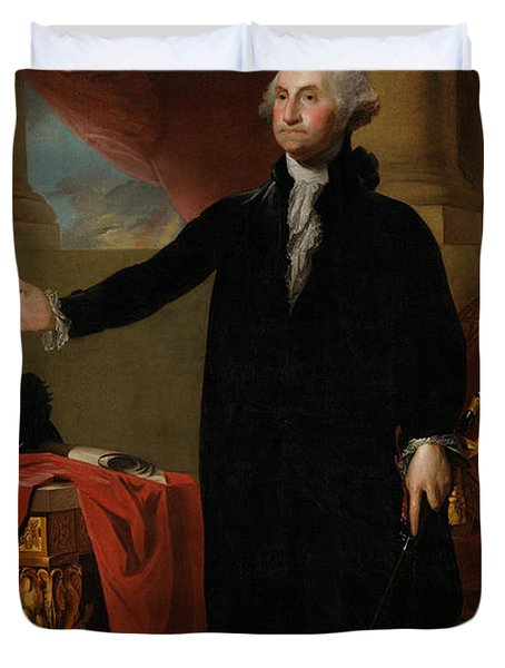 George Washington Lansdowne Portrait Duvet Cover by War Is Hell Store