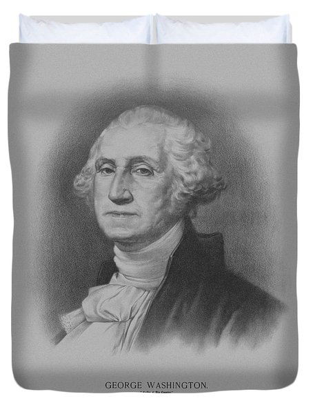 George Washington Duvet Cover by War Is Hell Store