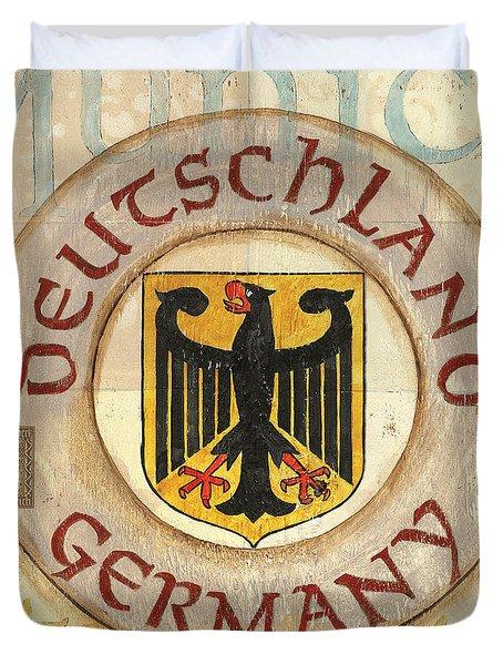 German Coat Of Arms Duvet Cover by Debbie DeWitt