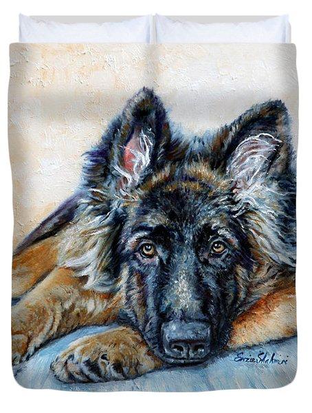 German Shepherd Duvet Cover by Enzie Shahmiri