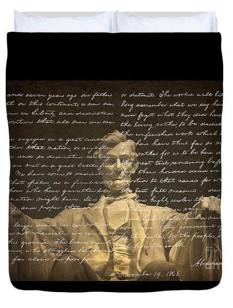 Gettysburg Address Duvet Cover by Diane Diederich