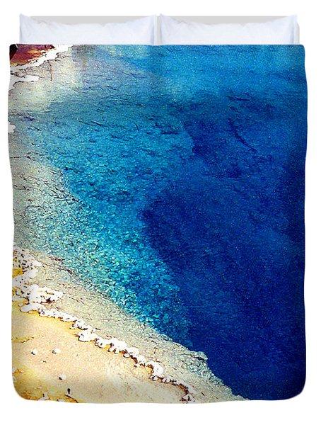Geyser Basin Duvet Cover by Nancy Mueller
