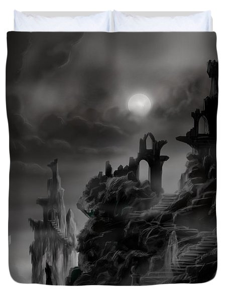 Ghost Castle Duvet Cover by James Christopher Hill