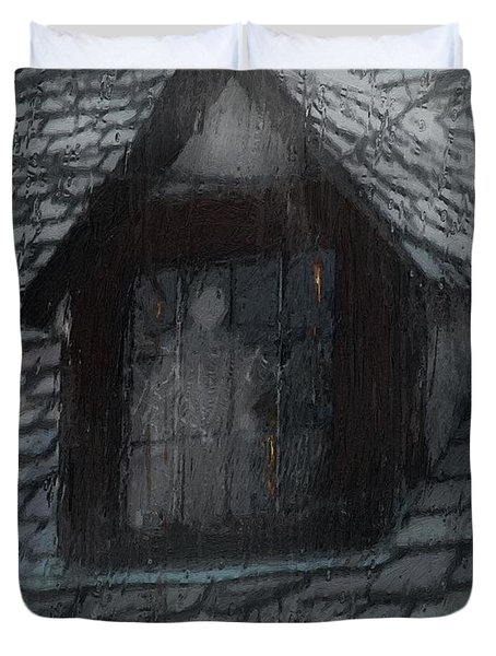 Ghost Rain Duvet Cover by RC DeWinter