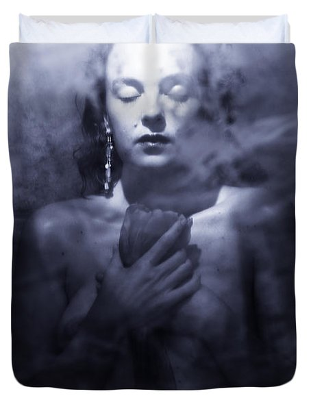 Ghost Woman Duvet Cover by Scott Sawyer
