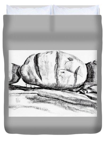 Giant Baked Potato At Elephant Rocks State Park Duvet Cover by Kip DeVore