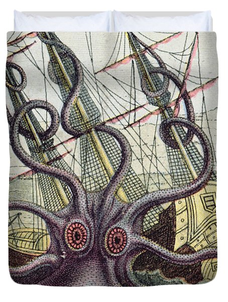 Giant Octopus Duvet Cover by Denys Montfort