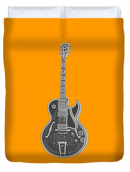 Gibson Es-175 Electric Guitar Tee Duvet Cover by Edward Fielding