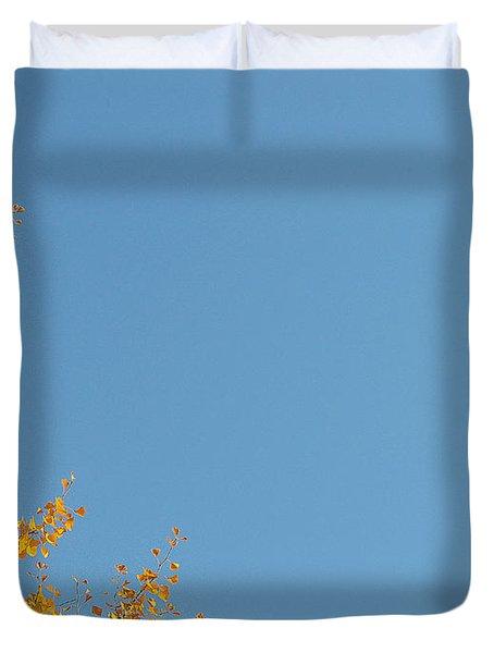 Ginkgo Fantasy In Blue Duvet Cover by Eena Bo