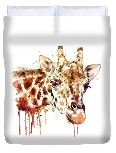 Giraffe Head Duvet Cover by Marian Voicu