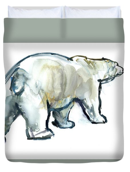 Glacier Mint Duvet Cover by Mark Adlington