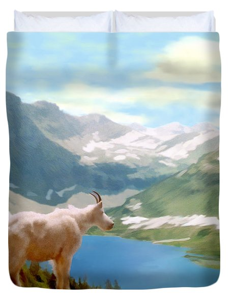 Glacier National Park Duvet Cover by Kurt Van Wagner