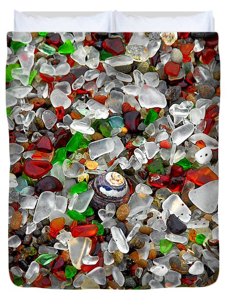 Glass Beach Fort Bragg Mendocino Coast Duvet Cover by Christine Till