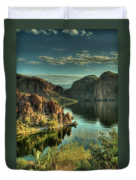 Glass Lake Duvet Cover by Saija  Lehtonen