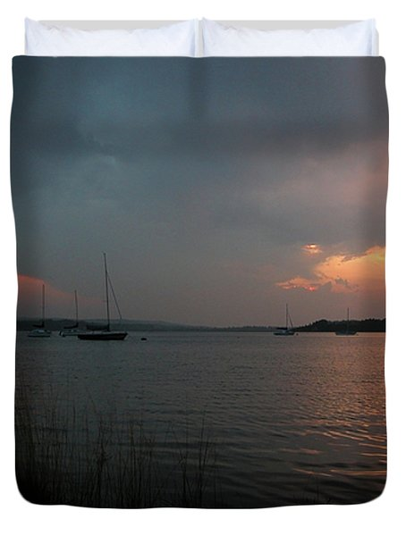 Glenmore reservoir - Sunset 3 Duvet Cover by Stuart Turnbull