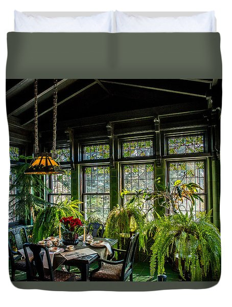 Glensheen Mansion Breakfast Room Duvet Cover by Paul Freidlund