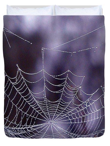 Glistening Web Duvet Cover by Karol Livote