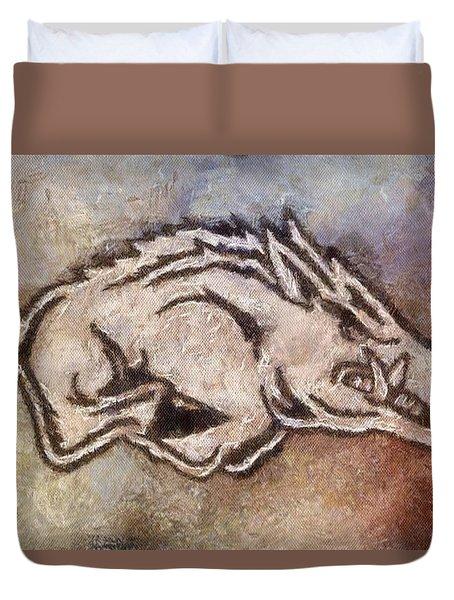Go Hogs Go  Duvet Cover by Dawn Bearden