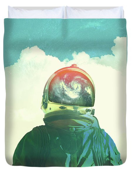 God Is An Astronaut Duvet Cover by Fran Rodriguez
