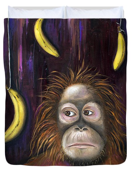 Going Bananas Duvet Cover by Leah Saulnier The Painting Maniac