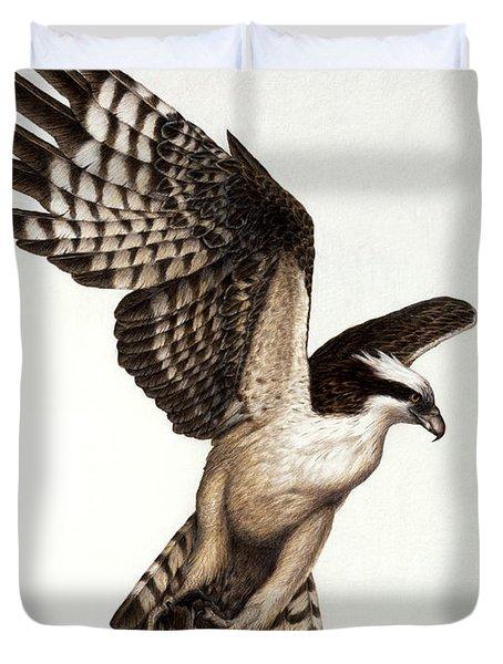 Going Fishin' Osprey Duvet Cover by Pat Erickson