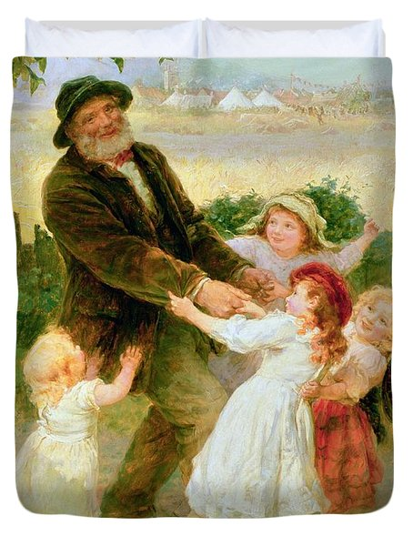 Going To The Fair Duvet Cover by Frederick Morgan