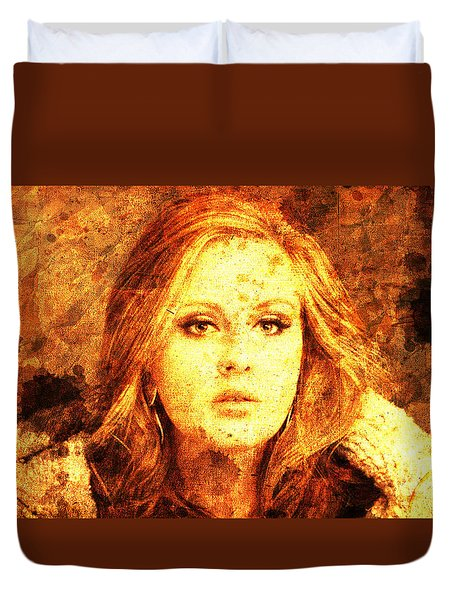 Golden Adele Duvet Cover by Pablo Franchi