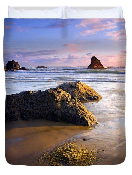 Golden Coast Duvet Cover by Mike  Dawson