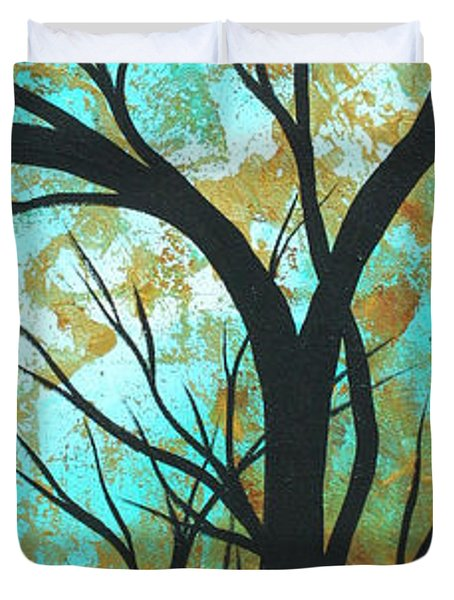 Golden Fascination 4 Duvet Cover by Megan Duncanson