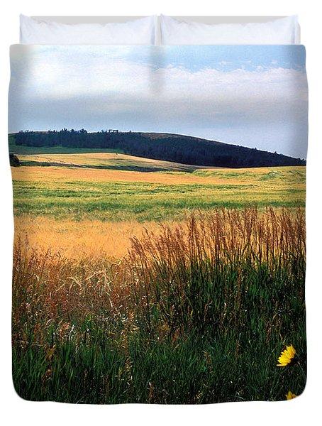 Golden Fields Forever Duvet Cover by Kathy Yates