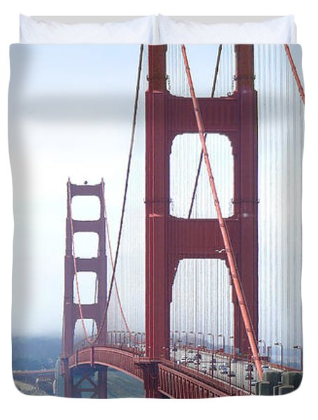 Golden Gate Bridge Duvet Cover by Mike McGlothlen