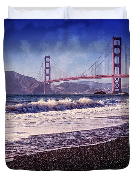 Golden Gate Duvet Cover by Everet Regal