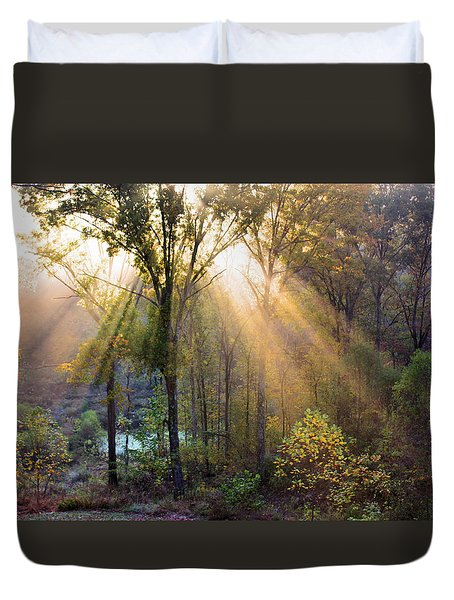 Golden Rays Duvet Cover by Kristin Elmquist