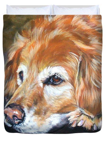 Golden Retriever Senior Duvet Cover by Lee Ann Shepard