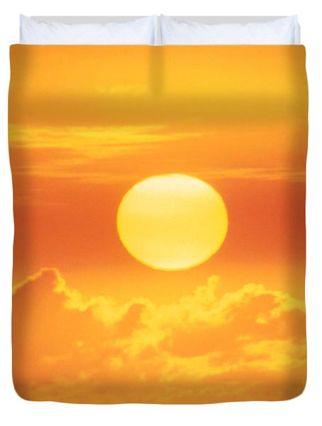 Golden Sunball Duvet Cover by Bob Abraham - Printscapes