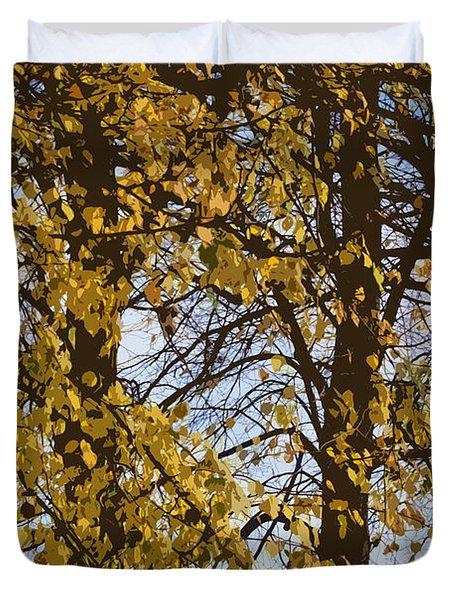 Golden Tree 2 Duvet Cover by Carol Lynch