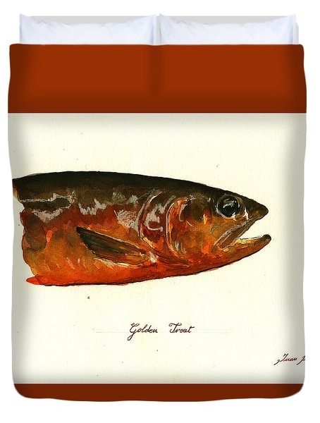Golden Trout  Duvet Cover by Juan  Bosco