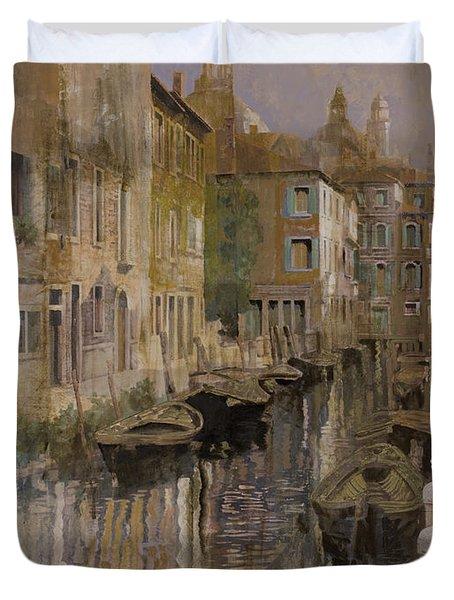 Golden Venice Duvet Cover by Guido Borelli