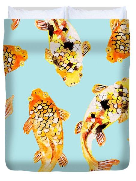 Goldfish Duvet Cover by Uma Gokhale